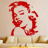 Marilyn Monroe Famous Actress Fashion Decor Wall Decal Vinyl Sticker tr689
