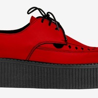 BARFLY CREEPER - RED LEATHER - DOUBLE SOLE - CUSTOM MADE - Underground