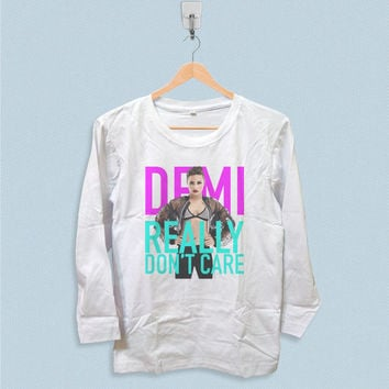 Long Sleeve T-shirt - Demi Lovato Really Dont Care