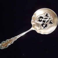 Sterling Enamel Pierced Bon Bon Candy Nut Spoon Antique R. Blackinton & Co