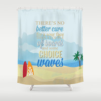 choice waves.. lilo and stitch Shower Curtain by studiomarshallarts