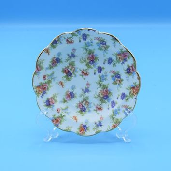 Chintz Grosvenor Jackson & Gosling Dessert Plate Vintage English Bone China Tea Cake Plate Afternoon Tea Party Gift for Her Wedding Decor