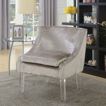 Tristan Alligator Fabric Accent Chair - Beige - Sam's Club