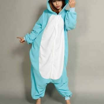 Cool Animal Gray/Blue Koala Adult Women Ladies Onesuit All In One Winter Spring Autumn Cosplay Cos Pajamas Fleece Sleepwear S-XLAT_93_12