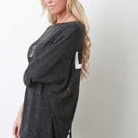 Lucky 7 Marled Knit Boxy Top