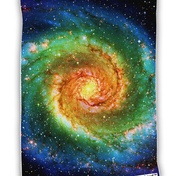 "Rainbow Tie Dye Galaxy Micro Terry Sport Towel 11""x8"" All Over Print"