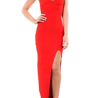 Le Paris Bandage Gown - Red