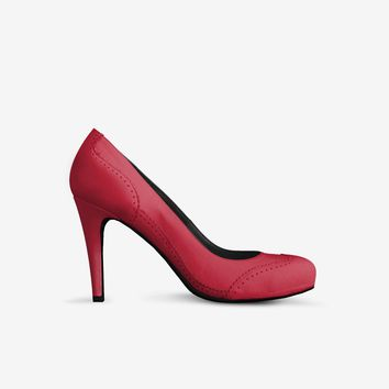Levi Thang British High Heel Italian Leather Shoes Red