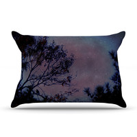 "Robin Dickinson ""Twilight"" Purple Tree Pillow Case - Outlet Item"