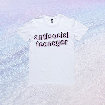 Antisocial Teenager T-Shirt | Tumblr Kawaii Cute Cool Blogger Seapunk *ON SALE*