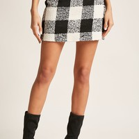 Checkered Boucle Skirt