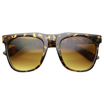 Retro Oversize Square Horned Rim Sunglasses 9598