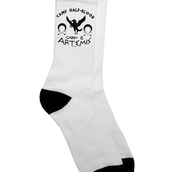 Camp Half Blood Cabin 8 Artemis Adult Crew Socks