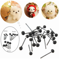 2016 Brand New 150Pairs/Lot Glass Flat Eyes Kit 2/3/4mm For Needle Felting Craft Baby Animals Dolls DIY Accessories