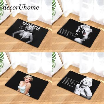 Autumn Fall welcome door mat doormat decorUhome Entrance Waterproof  Marilyn Monroe Kitchen Rugs Bedroom Carpets Decorative Stair Mats Home Decor Crafts AT_76_7