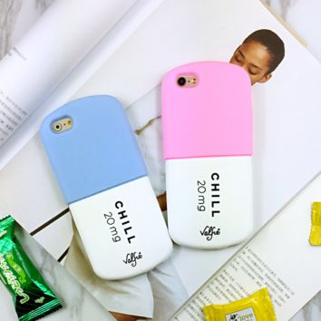 Creative Cold Pills Lovers Iphone Protective Case + Nice Gift Box