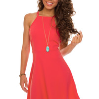 Grace Kelly Dress - Coral