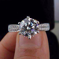 Gift Jewelry Shiny New Arrival Stylish 925 Silver Ring [4989655940]