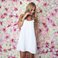East Side Love Shift Dress In White