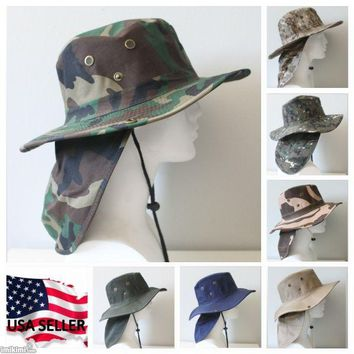 Bucket Booney Mesh Hat Hunting Fishing Army Military Hiking Outdoor Camouflage