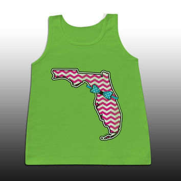 Sassy Frass Cute Florida State Bow Girlie Bright Comfort Colors Tank Top