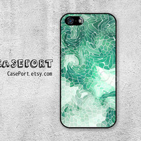 Mint Mosaic iPhone 5 Case, iPhone 5s Case, iPhone 5 Cover, iPhone 5s Cover, iPhone Hard Case