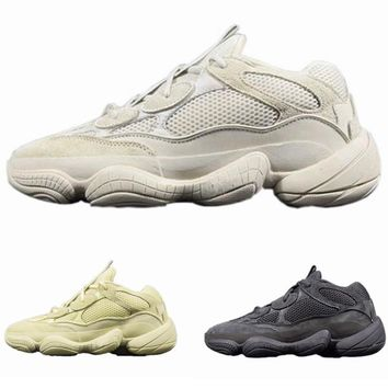 2018 New Wave Adidas Yeezy Runner 500 Blush Desert Rat 500 Super Moon Yellow Running Shoes Kanye West Mens Women Sneaker Sports Shoes