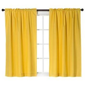 Solid 2pk Curtain Panel - Room Essentials™