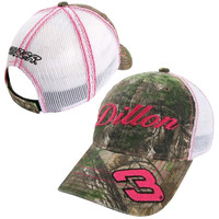 Chase Authentics Austin Dillon Ladies Generic Tracker Adjustable Hat - Realtree Camo/White