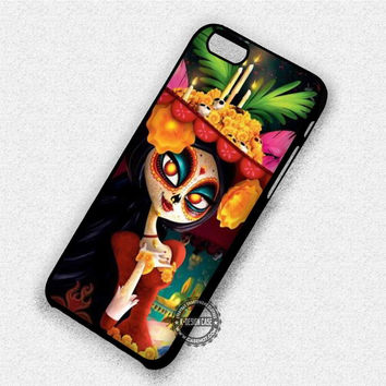 Sugar Skull Mask Girl - iPhone 7 6 Plus 5c 5s SE Cases & Covers
