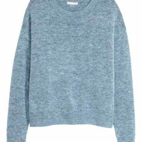 Fine-knit jumper - Dark beige marl - Ladies | H&M GB