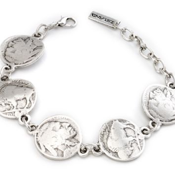 Buffalo Head Coin Bracelet