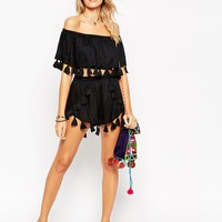ASOS Fringed Tassle Beach Short Co-ord