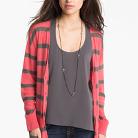 BP. Stripe Oversized Cardigan (Juniors) | Nordstrom