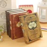 64K Small Pocket Vintage Notebook Handcover Magic Spells Pockets Book Planner Journal Traveler Notepad