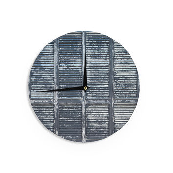 "Susan Sanders ""Rustic Blue Shutters"" Nautical  Wall Clock"