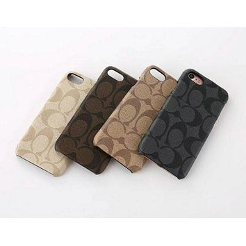 COACH iPhone Phone Cover Case For iphone 6 6s 6plus 6s-plus 7 7plus Protective Case F