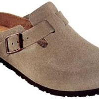 Boston Soft Footbed Taupe Suede Clogs | Birkenstock USA Official Site
