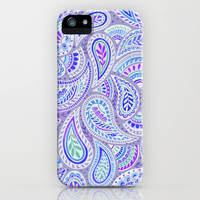 Purple Paisley iPhone Case by Janet Broxon | Society6