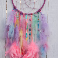 Pastel Rainbow Dream Catcher