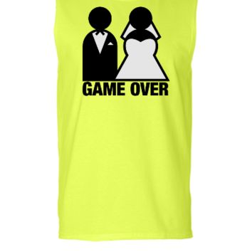 Game Over - Wedding Bride and Groom - Sleeveless T-shirt