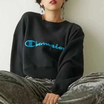 Champion Women Fashion Casual A Short Sweater Pullover