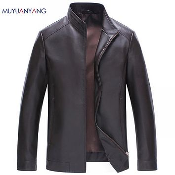 Men Leather Jackets And Coats Overcoat Casual Men Faux Leather Jacket Biker Men Leather Coat Clothing