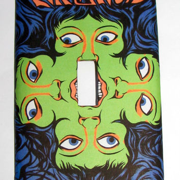 Light Switch Cover - Light Switch vintage psychedelic poster PARANOID