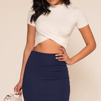 Beyond Basic Skirt - Navy