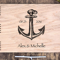 Ocean Wedding Guest Book, Nautical Wedding, Sea Wedding, Ocean Guest Book, Anchor Wedding, Sea Guest Book, Seaside Wedding Anchor Guest Book