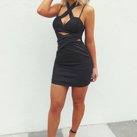 Just In Time Dress: Black