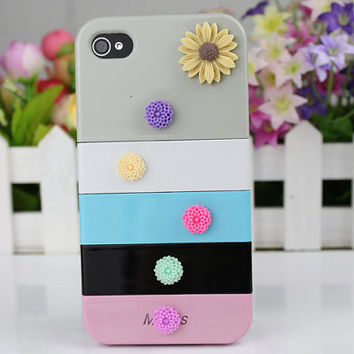 Little  Flowers  Hard Case Cover for Apple iPhone 4gs Case, iPhone 4s Case, iPhone 4 Hard Case