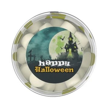 Spooky Haunted House Costume Night Sky Halloween Chewing Gum