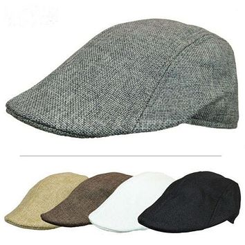Herringbone Duckbill Ivy Hat Classic Wool Cap Golf Newsboy